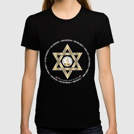 In Loving Memory Victim Names Tree Of Life Or L'Simcha Congregation Keep Sake (Black) T-shirt