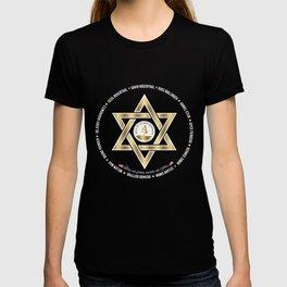 In Loving Memory Victim Names Tree Of Life Or L'Simcha Congregation Keep Sake (Black) T-shirt