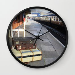 Cases At The Old Railway Station Wall Clock