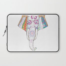 Hand drawn colorful illustration with Elephant. Laptop Sleeve