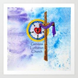 Lutheran Christian Image Art Print