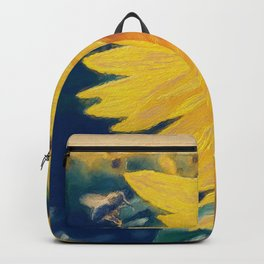 sunflower and little bee Backpack