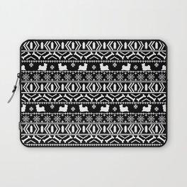 Biewer Terrier fair isle christmas black and white pattern minimal dog breed pet designs Laptop Sleeve