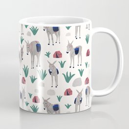 Camping Donkeys Coffee Mug