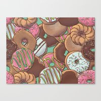 donuts Canvas Prints featuring Donuts by Mario Zucca