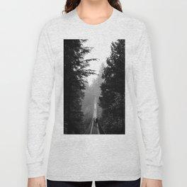 misty capilano suspension bridge Long Sleeve T-shirt