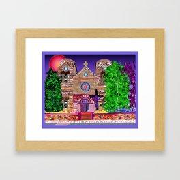 jesus painted purple Framed Art Print