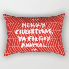 Merry Christmas, Ya Filthy Animal – Red Rectangular Pillow