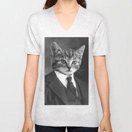 Gentleman Cat Unisex V-Neck