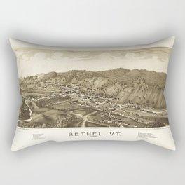 Aerial View of Bethel, Vermont (1886) Rectangular Pillow