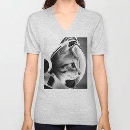 Astronaut Cat #3 Unisex V-Neck