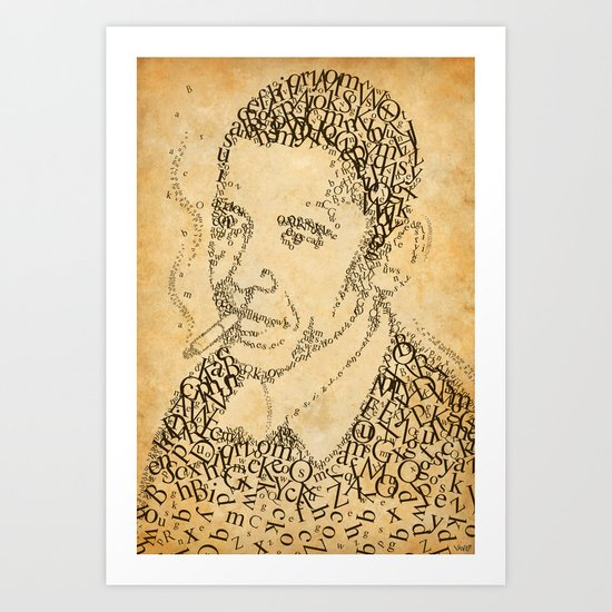 obama in the font of times 02 Art Print