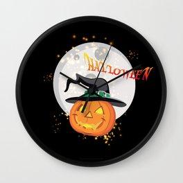 Halloween's pumpkin Wall Clock