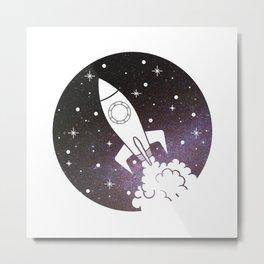 Rocket Trip Space Metal Print