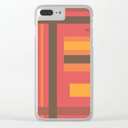 Disjointed Stripes (B2) Clear iPhone Case