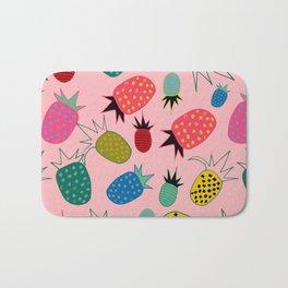 pineapple fun tropical pink Bath Mat