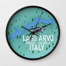 Lago Italy lake map Wall Clock