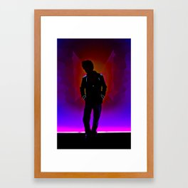 The Backlit Kid Framed Art Print