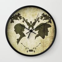 silhouette Wall Clocks featuring silhouette by Camille