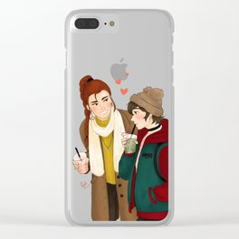 mikimiki date Clear iPhone Case