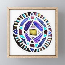 Four Season Life Mandala Framed Mini Art Print