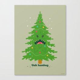 Monster Christmas Tree Canvas Print