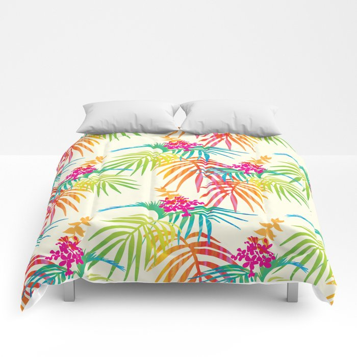Bright Tropical Comforters By Nicky9