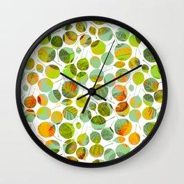 nice_feuilles_Clair Wall Clock