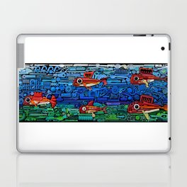 Fishes (white) Laptop & iPad Skin