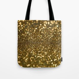 Gold Sparkle Pattern Tote Bag