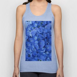 Gorgeous Baby Blue Hydrangeas  Floral Art Unisex Tank Top