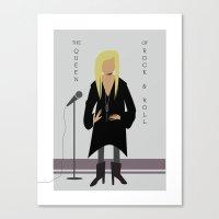 stevie nicks Canvas Prints featuring Stevie Nicks by Sarah Duet