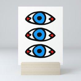 Three Open Eyes Mini Art Print