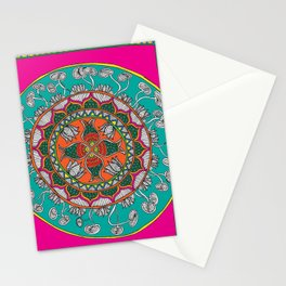 Fish in the lotus pond Stationery Cards
