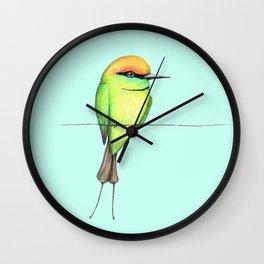 Green bee eater Wall Clock