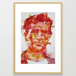 JACK KEROUAC- watercolor portrait Framed Art Print