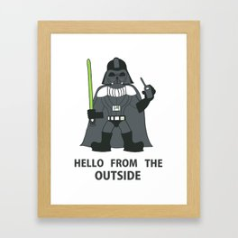Darth Quotes Adele Framed Art Print