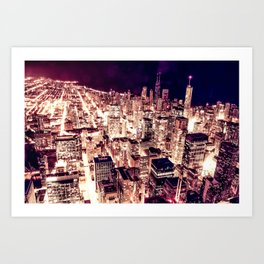 Chicago NightLight Art Print