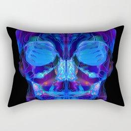 Neon Skull Rectangular Pillow