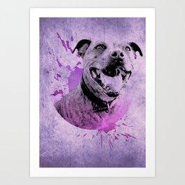 Ginger Pigg purple Art Print