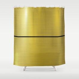 Single black stripe on a Golden background design for home decoration. Shower Curtain