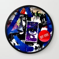 stickers Wall Clocks featuring Stickers by very giorgious