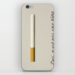 it's a fucking cigarette! iPhone Skin