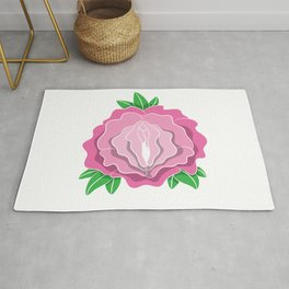 Womens Rose Vagina Womens Shirt Pussy Flower Pussies Vag Puss Gift Rug