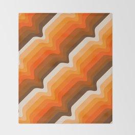 Golden Wave Throw Blanket