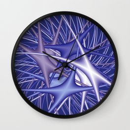 chaotic colors -3- Wall Clock