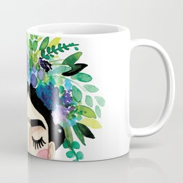 Floral Frida - Blue Coffee Mug
