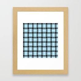 Large Pastel Blue Weave Framed Art Print