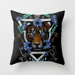 Powerful Tiger  Throw Pillow