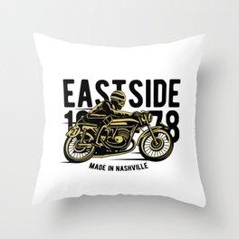 Eastside 1978 - Motocross, Motobike, Motorbike Rider T Shirt Throw Pillow